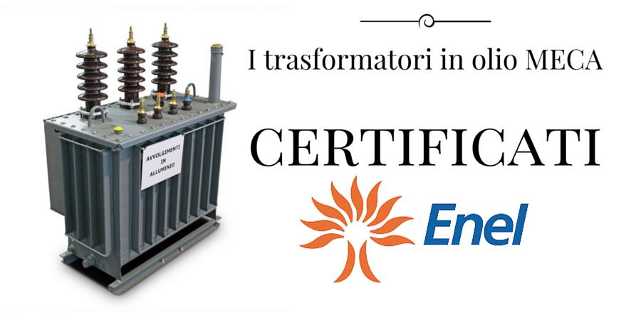 Trasformatori in olio certificati ENEL