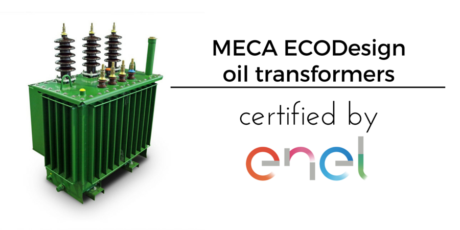 MECA ECODesign oil transformers certified by ENEL