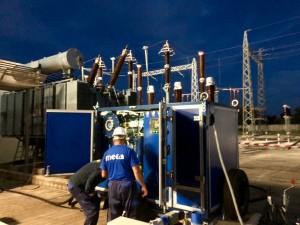 Trattamento olio trasformatori MECA