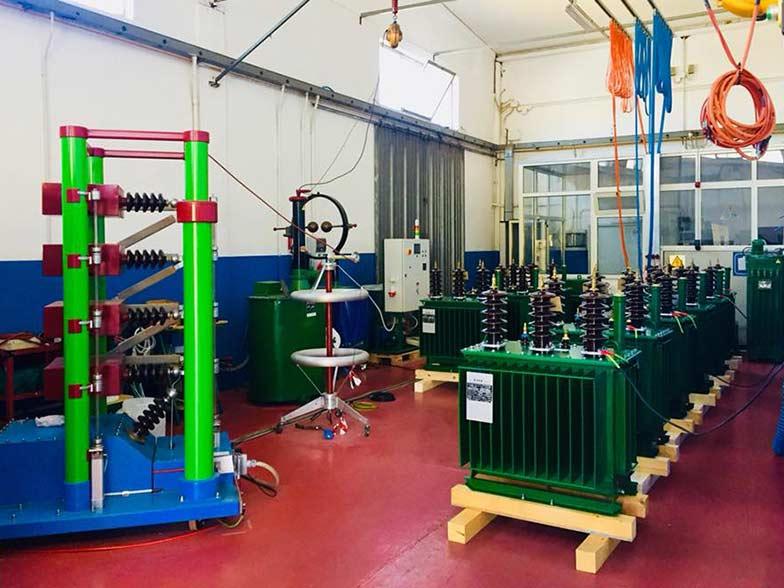 Produzione trasformatori - test, prove elettriche di collaudo